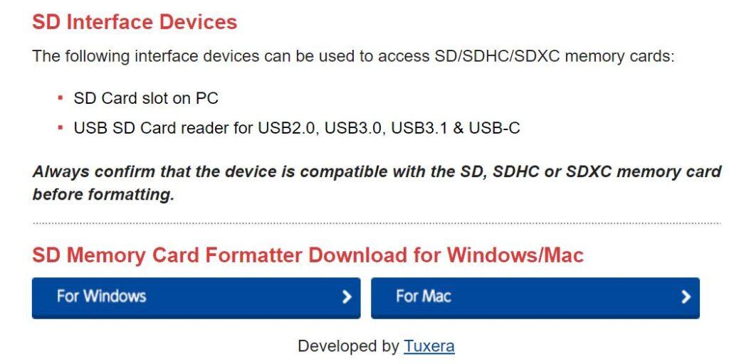 Paso 1 para descargar SD Formatter Tool